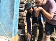 Enjoying clean water - New dharas in Dhading